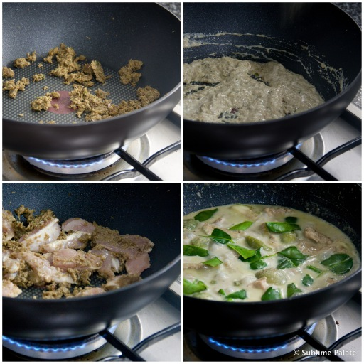 Cooking Green Curry Chicken